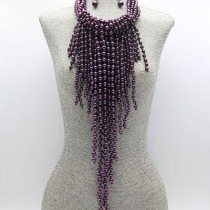 Jewelry - Fringe Pearl Necklace Set